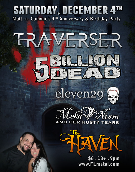 link to traverser five billion dead concert information