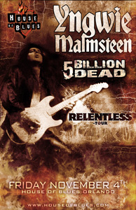 link to tickets for yngwie malmsteen and 5 billion dead at the house of blues orlando