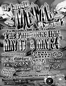 image of the orlando metal awards 2002 flier poster