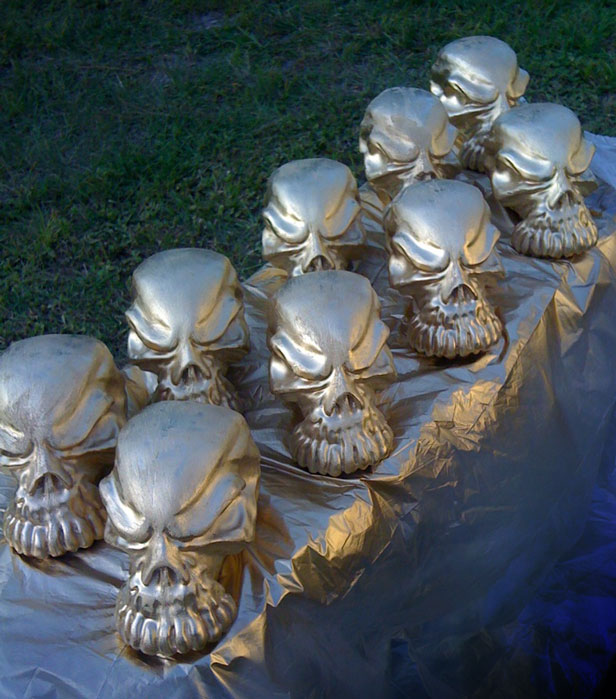 image of the orlando metal awards trophy being painted