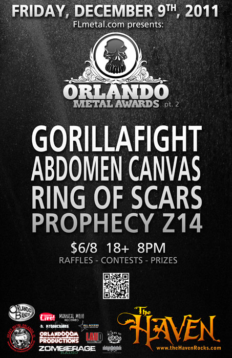 image of orlando metal awards official poster